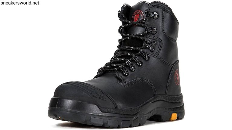 Best Work Boots - ROCKROOSTER Work Boots for Men,8 inch,Steel Toe,Side Zipper,Slip Resistant Safety Oiled Leather Shoes,Static Control,Non Slip,Breathable,Quick Dry,Anti-Fatigue
